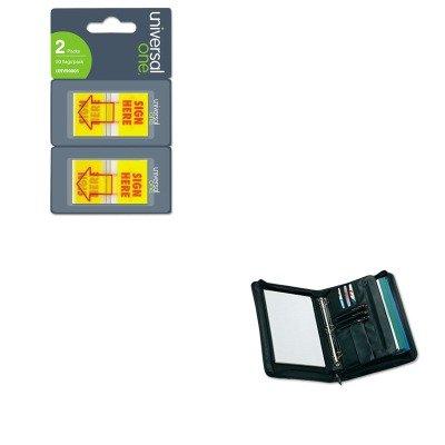 KITUNV25650UNV99005 - Value Kit - Universal Zip-Around Padfolio (UNV25650) and Universal Arrow Page Flags (UNV99005)
