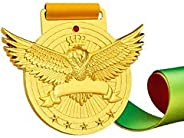 Gold Medals, for Match Winner, Customizable Logo, 1st Awards, Professional Metal Medallions, with Ribbon