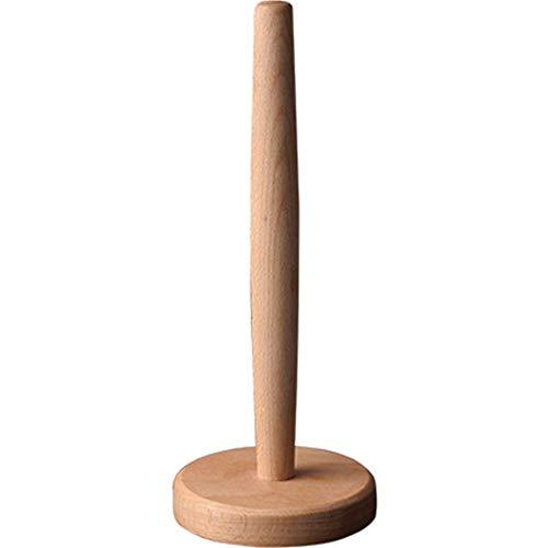Firlar Wooden Paper Towel Holder, Countertop Vertical Tissue Holder Rack Bamboo Paper Towel Stand for Kitchen Living Room Bedroom Home - Wood Paper Toilet