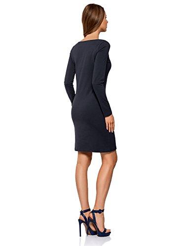 Maille oodji Robe Moulante Femme 7902n en Bleu Ultra HqqwSIg