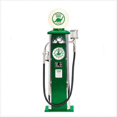 Morgan Cycle Sinclair Dino Gas Pump (Glass Morgan Clock)