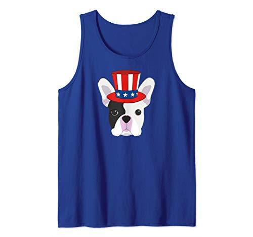 Patriotic French Bulldog  Tank - Tank Bulldog