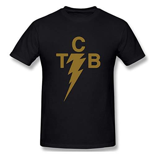 T-shirt Black Elvis Classic - HUO ZAO Men's TCB Elvis Logo Classic Black Short Sleeve T-Shirt