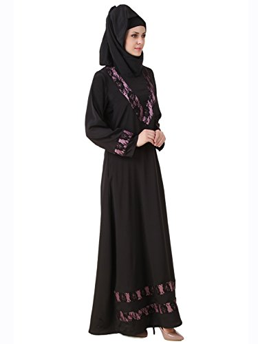 MyBatua Black Muslim islamischen Burka Casual & Formal Wear Kleid AY-488