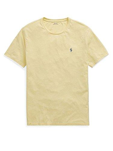 (Polo Ralph Lauren Men's Classic Fit Crew-Neck T-Shirt Cotton (Large, Banana Peel))