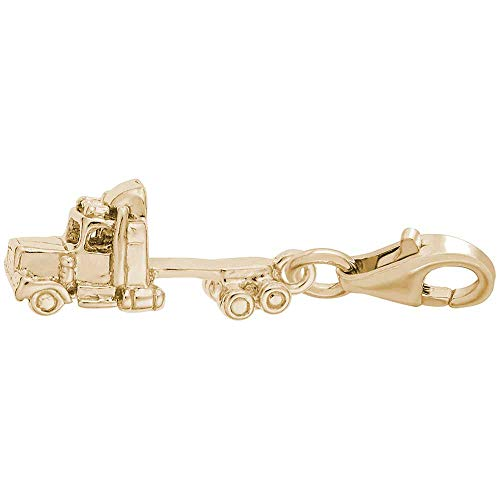 Rembrandt Charms Truck Cab Charm with Lobster Clasp, Gold Plated - Charm Plated Truck Gold