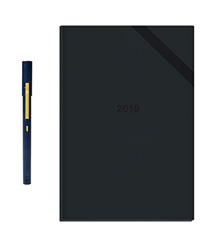 Neo Smartpen M1 (Navy) with 2019 N Hardcover Planner (256 Customizable Pages with Weekly and Monthly Plan) Bundle for iOS