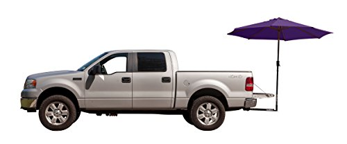 (Tailbrella Purple Tailgate Hitch Umbrella Canopy for Truck SUV Tailgater. 9FT Large Water-Resistant Tailgating Tents for Outdoor Camping, Beach, Travel, Hunting. EZ Pop Up Umbrellas for Shade)