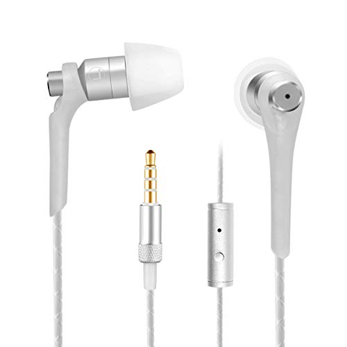 Kimitech Noise Isolating in Ear Headphones, Earphones with Pure Sound and Microphone, Best Gift for Someone Like Music
