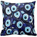 Nazar Amulets Evil Eye Stones Blue Pattern Throw Pillow Case