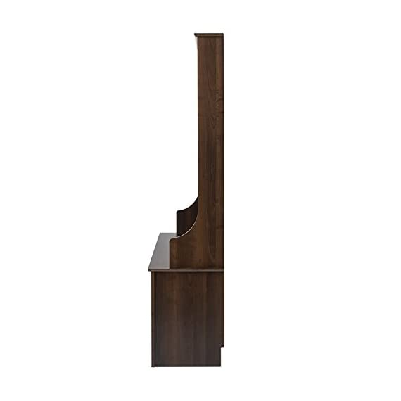 """Atlin Designs Hall Tree with Shoe Storage in Espresso - Finish: Espresso Finished in rich espresso laminate Assembled Dimensions: 38"""" W x 68"""" H x 15.5"""" D - hall-trees, entryway-furniture-decor, entryway-laundry-room - 31Zx 0sgUAL. SS570  -"""