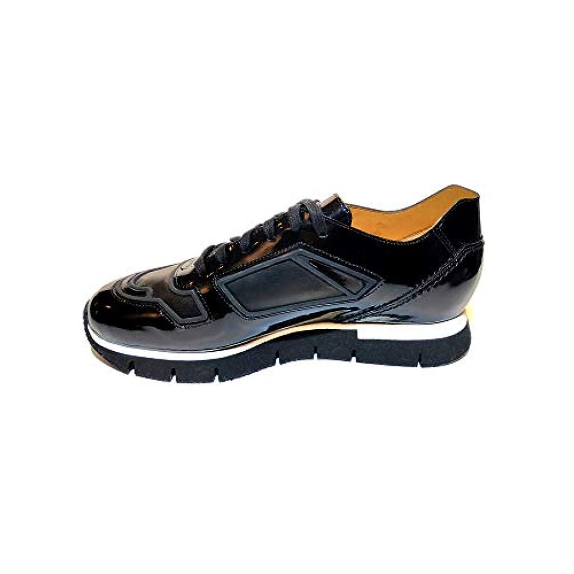 Santoni Sneakers Donna Inserti In Vernice Nero