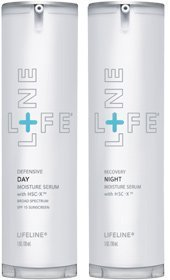 Anti-Aging Day/Night Moisture Serum with stem cells - 2 pk, by Lifeline Stem Cell Skin Care