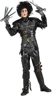 Edward Scissorhands Costume, Black, Standard