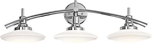 Kichler 6463CH Structures Bath 3-Light Halogen, Chrome