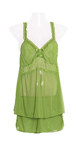 Verde Parei e Tankini Pantaloni Pizzo Pigiama Donna Culotte Fionda Traspiranti Copricostumi Notte Deaman Da Camicie xwqU16YHX