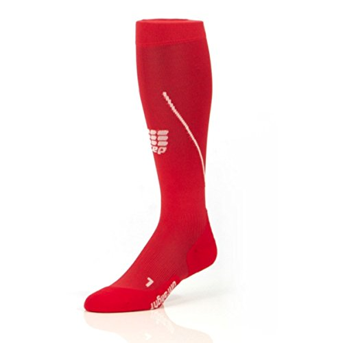 CEP WOMEN'S PROGRESSIVE+ RUN ULTRALIGHT MEB SOCKS (Red/Grey) 3