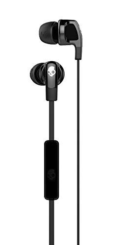 - Skullcandy Smokin' Buds 2 Noise Isolating Earbuds with In-Line Microphone and Remote, Moisture Resistant, Oval-Shaped and Angled for Long-Term Comfort, Black