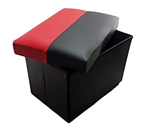 HISP Small Red/Black Faux Leather Ottoman Storage Box u0026 Folding Stool in one (22cm)  sc 1 st  Amazon UK & HISP Small Red/Black Faux Leather Ottoman Storage Box u0026 Folding ... islam-shia.org