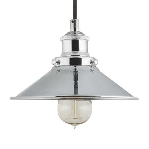 Chrome Industrial Pendant Light in US - 3