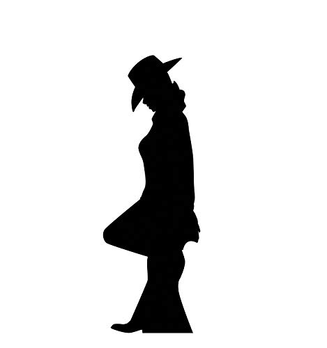 (Advanced Graphics Cowgirl Silhouette Life Size Cardboard Cutout)