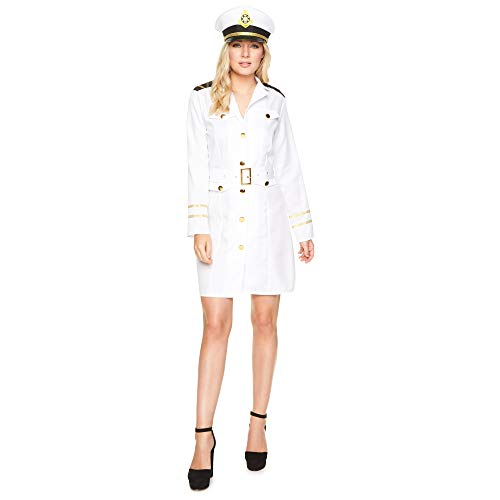 Women's Navy Officer Sailor Costume, for Halloween Party Accessory, Extra Large ()