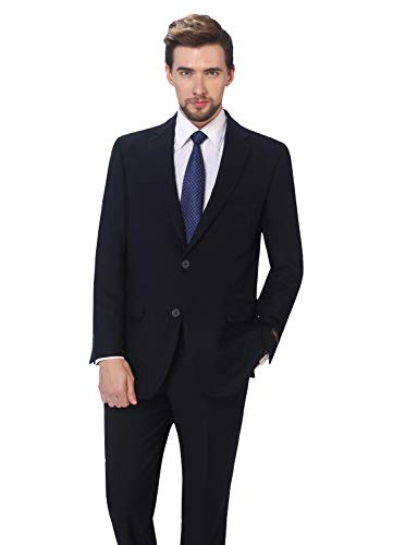 ol Blend Business Blazer Dress Suit Jacket Navy ()