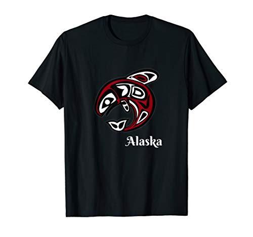 Alaska Salmon T-shirt native american indian fish design