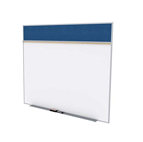 Ghent SPC510A-V-195 5 ft. x 10 ft. Style A Combination Unit - Porcelain Magnetic Whiteboard and Vinyl Fabric Tackboard - Navy by Ghent