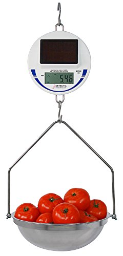 Detecto scs30 Digital Solar Hanging Scale, 30 lb. / 15 kg Capacity, Includes Pan and Bow by Detecto
