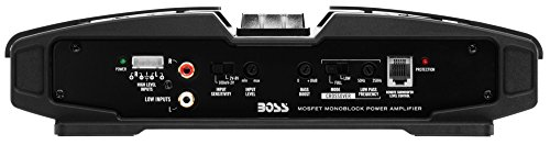 BOSS AUDIO PM2500 Phantom 2500-Watt Monoblock, Class A/B 2-8 Ohm Stable  Monoblock Amplifier with Remote Subwoofer Level Control - MasterBasser