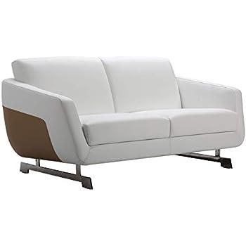 Amazon.com: Aspen sofá de piel, Cuero, Marrón: Kitchen & Dining