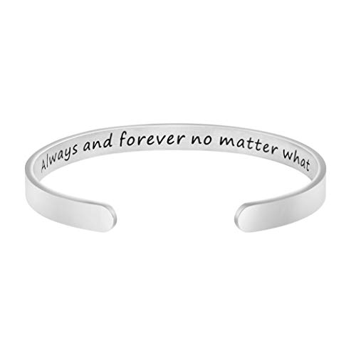 Joycuff Always and Forever No Matter What Best Friend Bracelet Friendship Jewelry Long Distance Gift for Her Moving Away