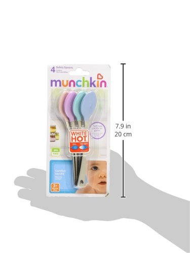 Munchkin 42404 White Hot Safety Spoon, 4-Pack (Colors May Vary)