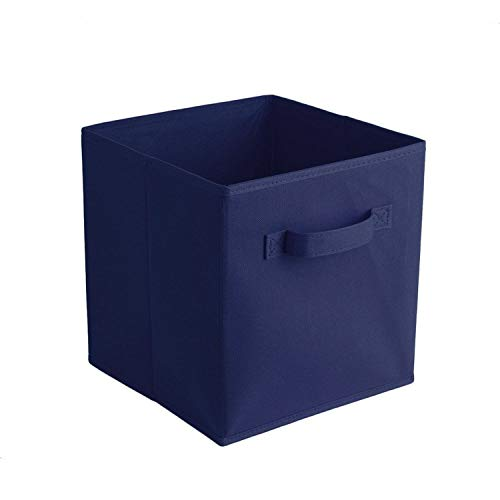 ABBY CHAMBERS Fabric Folding Cube Non Woven Storage Bins for Toy Underwear Clothes Shirt Book Large Baskets,6