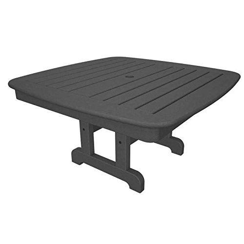 Polywood NCCT37GY Conversation/Coffee Table, Slate Grey by POLYWOOD