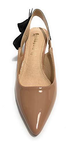 45 Gold Ds19gg24 Donna Tallone Scarpa In Decollete Aperto Rosa amp;gold Pelle Tc sottopiede xUR07q5w7