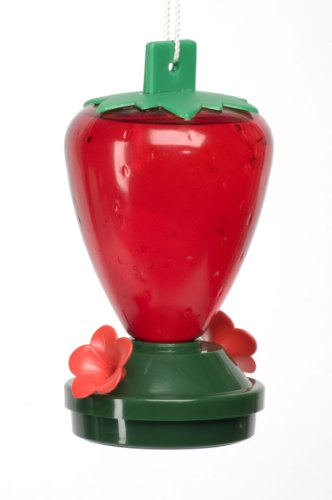 Audubon  Plastic Strawberry Hummingbird Feeder,  12 oz.  Model 5556 - Gold Hummingbird Feeder