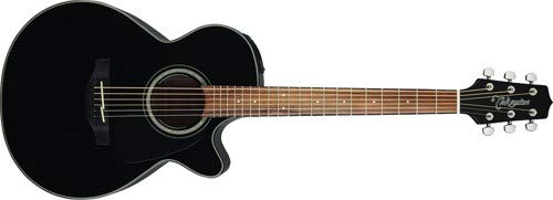 Takamine GF30CE-BLK FXC Cutaway Acoustic-Electric Guitar, - Acoustic Neck Guitar Electric Slim