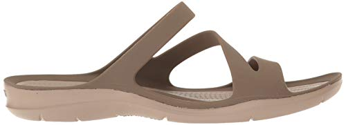 Women's Crocs Sandal W Walnut Swiftwater Flat 8HHRx