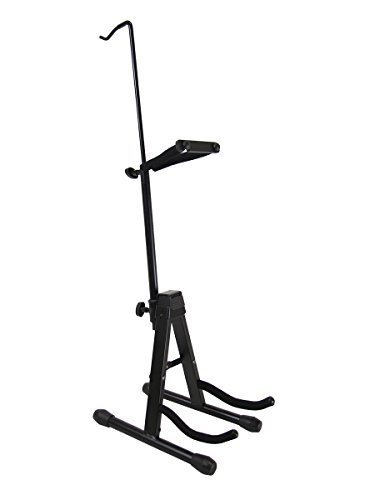 Gearlux Adjustable Foldable Violin Stand with Hook for Bow (Violin Stand Case)