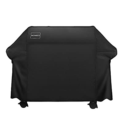Homitt Waterproof Grill Cover, 64 Inch 600D Heavy Duty BBQ Grill Cover with UV Coating for Most Brands of Grill