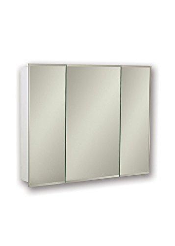 Jensen 255236X Tri-View Bevel Mirror Medicine Cabinet, 36