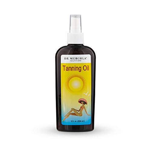 Dr. Mercola Natural Tanning Oil - Promotes A Deep Golden Tan - Proprietary Blend Of 9 Organic Ingredients - Hypoallergenic - Premium Skin Care Product