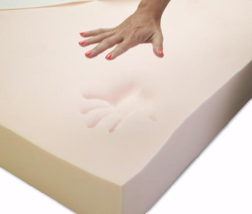 Twin Size 8 Inch Thick, 5 Pound Density Visco Elastic Memory Foam Mattress Bed With Gel Made in the USA