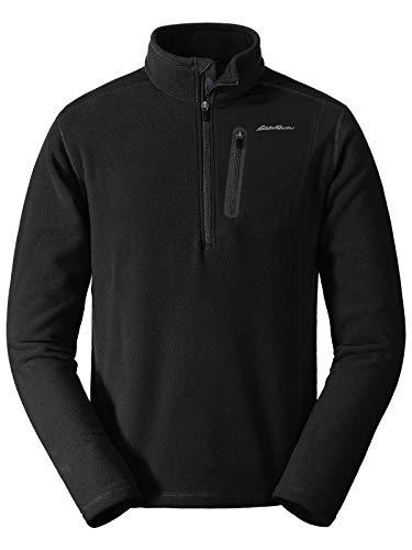Eddie Bauer Men's Cloud Layer Pro 1/4-Zip Pullover, Black Tall XL