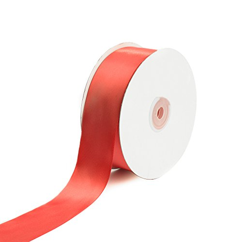 Creative Ideas Solid Satin Ribbon, 1-1/2-Inch by 50 Yard, Coral, Solid]()