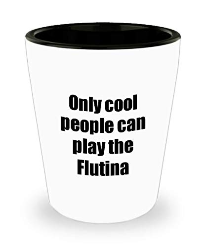 Flutina Player Shot Glass Musician Funny Gift Idea for sale  Delivered anywhere in USA