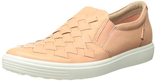 ECCO Women's Soft 7 Slip-on Sneaker Rose dust Woven 40 M EU (9-9.5 -