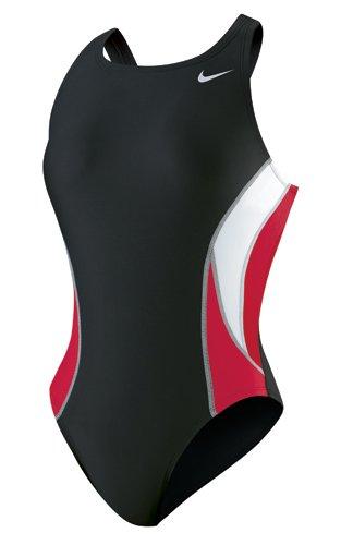 (NIKE Team Color Block Power Back Tank Swimsuit - Women's Size 20 Color VarsityRed)